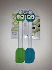 New listing Hoot Owl Spatula Blue Green Joie Mini Spatulas-2pc 8.5�-Heat Resistance 446 New