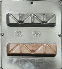 """Fund Raising Candy Bar 6"""" x 1 3/8"""" x 1""""Chocolate Candy Mold Candy Making 145 NEW"""