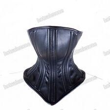 Quality PU Leather Hood Mask Neck collar head Harness Corset