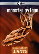 INSIDE NATURE'S GIANTS: MONSTER PYTHON NEW DVD Region 1