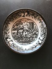 Royal Stafford dinner Bowl Sheperd With Dog And Sheep English Black