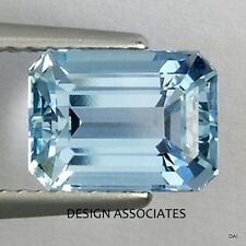 AQUAMARINE 5x3 MM EMERALD CUT OUTSTANDING BLUE COLOR ALL NATURAL