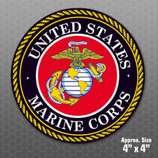 Marine Corps Sticker - USMC Military car truck vinyl decal bumper window emblem