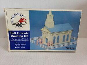 Vintage MDK K-Lineville Full O Scale Church USA