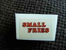BUILD A BETTER BURGER GAME SPARES - VINTAGE 1984  ACTION GT SMALL FRIES BOX