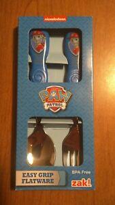 Nickelodeon Paw Patrol Easy Grip Flatware Spoon & Fork Sets BPA FREE!!