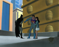 Warner Brothers Animated Series Production Cel Superman/Batman/Lois Lane