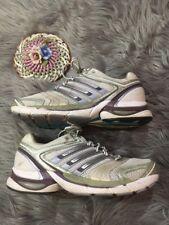 adidas Adistar Salvation Running Gray Synthetic Women Size 8 Medium Purple White