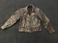 Vintage Langlitz Leather Motorcycle Jacket Awesome Patina