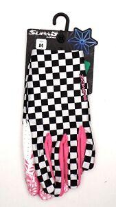 SupaCaz SupaG Full Finger Cycling Gloves Pink/White/Black, Medium