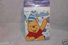 WINNIE THE POOH 1ST BIRTHDAY BOY 8 THANK YOU NOTES  PARTY SUPPLIES