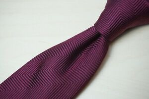 Charles Hill Merlot Deep Red Textured Self Patterned Silk Tie Made England