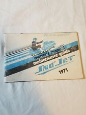 1971 Sno Jet Snowmobile Owners Manual
