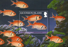 Mint Never Hinged/MNH Fish Ascension Island Stamps