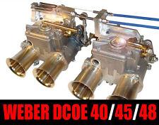 ALU Gaszug Gestänge Betätigung Weber DCOE DCOM Doppelvergaser Vergaser