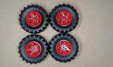 Lego Technic Massive Wheels  & Tyres Set of 4 - 107mm x 44mm NEW