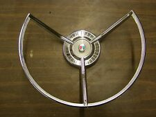 NOS 1959 Ford Fairlane 500 Steering Wheel Horn Ring - Trim Ornament Emblem