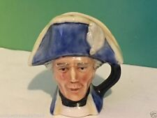 VINTAGE FRANKLIN MINT TOBY MUG 1982 ENGLISH HERITAGE FIGURINE HORNBLOWER BLUE
