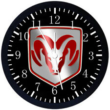 Dodge Black Frame Wall Clock W443
