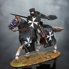 Medieval 1/32 Knight Hospitaller Hand Painted Horseman Toy Soldiers 54mm figure