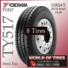 Yokohama Commercial Tires TY517 11r24.5 tires 24.5 24.5 11 24.5 FREE SHIPPING