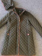 New listing LAUREN Ralph Lauren womens S quilted Coat Jacket olive green Equestrian