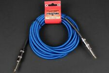 18.6 FT WOVEN INSTRUMENT CABLE 1/4 INCH GUITAR BASS KEYBOARD LIFETIME WARRANTY