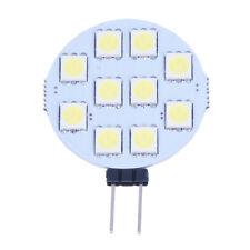 5 X G4 blanco puro 10 5050 SMD LED Lampara Marina Luz del punto de 12V DC N8G3