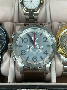 Nixon Simplify 51-30 Chronograph Stainless Steel Japanese Leather Band