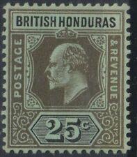 BRITISH HONDURAS 1905/11   25c   M/Mint    (P224).