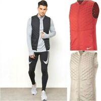 Nike Aeroloft Men's Reflective Packable Running Vest 928501 Cream SM MD 2XL $180