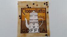 Patchworkstoff Paneele Kaffee Italy