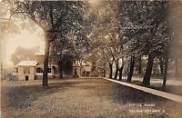 Ohio Postcard Real Photo RPPC 1909 YELLOW SPRINGS Little Block Homes