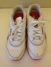 Reebok trainers size 4 for girls in pink and white