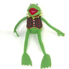 "Kermit Frog Plush Eden 24"" Vest VTG Green Stuffed Animal Jim Hensons Muppets"