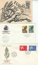 N625 EUROPA TWELVE different First Day Covers PHQ card 1957 - 1988