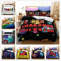 3D New Among Us Gamer Bedding Set Doona Quilt Cover Duvet Cover Pillow Case Kids