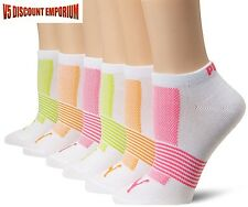 Puma Socks Women Low Cut Ankle Runner Colorful 6 Pairs Set Pack Logo Size 9-11