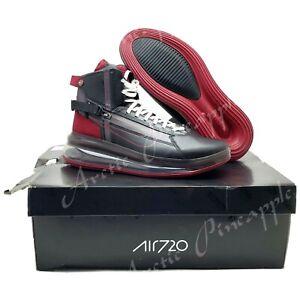 Nike Air Max 720 Saturn Men's Sz 9.5 Black Team Red Thunder Grey AO2110-004 NIB