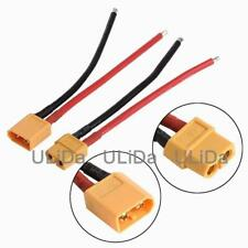 2x XT60 Male Female Connector 12AWG Soft Silicone Wire Cable for RC Lipo Battery