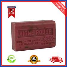 Savon De Marseille Vigne Rouge Au Beurre De Karité Pure Bio 100% Naturel 125 gr