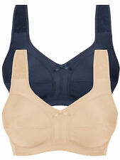 Naturana 2 Pack Non-wired Soft Cup Bra Full Coverage 86136 Beige with Div Colour