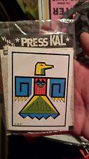 VIntage Original  Press-Kal   INDIAN  Native American  1950's   Travel Decal