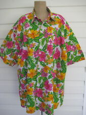 Tropicana Brightly Coloured Hawaiian S/S Shirt. 3XL. 100% Cotton BN Without Tags