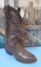 P S Ferrini Dark Brown Womens Cowboy Boots, Size 8 D