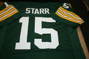 BART STARR #15 SEWN STITCHED HOME CUSTOM JERSEY SIZE XLG ALL TIME GREAT MVP