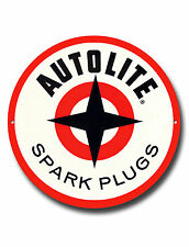 "AUTOLITE SPARK PLUGS 11"" INCHES ROUND METAL SIGN.GARAGE METAL SIGN."