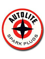 "AUTOLITE SPARK PLUGS 11"" INCHES ROUND METAL SIGN.GARAGE METAL SIGN."