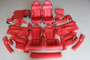 Ferrari 612 Scaglietti 2006 Red Leather Interior Daytona Seat Trim Set J131