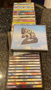 Now That's What I Call Music - Job Lot Of 47 x CD's Vol's 25,29,32,34,35,36,38
